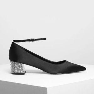 e869e31d2b Charles & Keith Shoes   Charles Keith Lucite Heel Satin Pumps   Poshmark